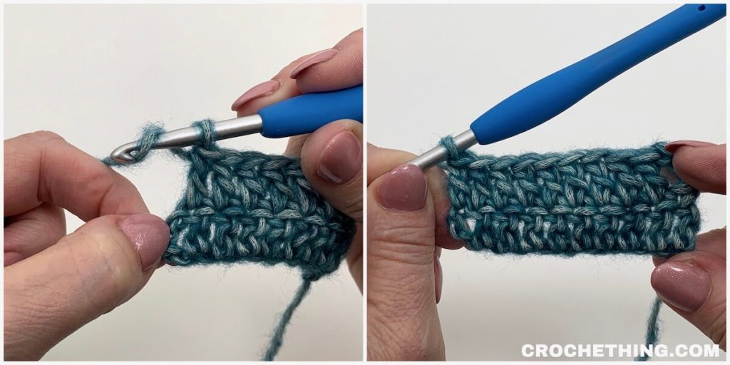 Learn how to make a double crochet stitch - tutorial