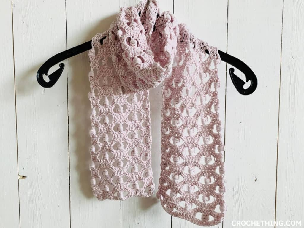 crochet summer scarf for beginners - free pattern