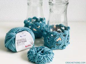 Jar Cozy Blocked Puff Stitch Crochething