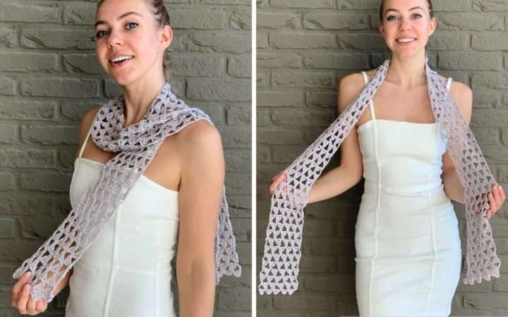Tri Tra Triangle Scarf Blog Crochething12