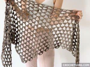 Tri Tra Triangle Shawl - free crochet pattern on crochething.com