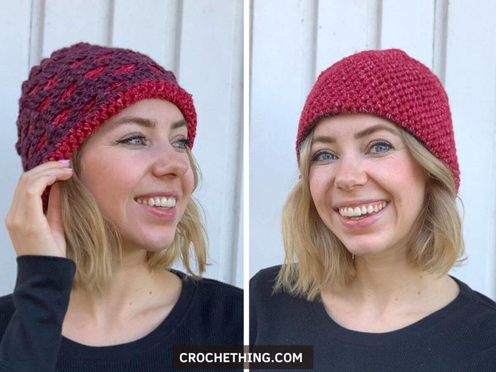 Easy Peasy Family Beanie - crochet unisex beanie free pattern